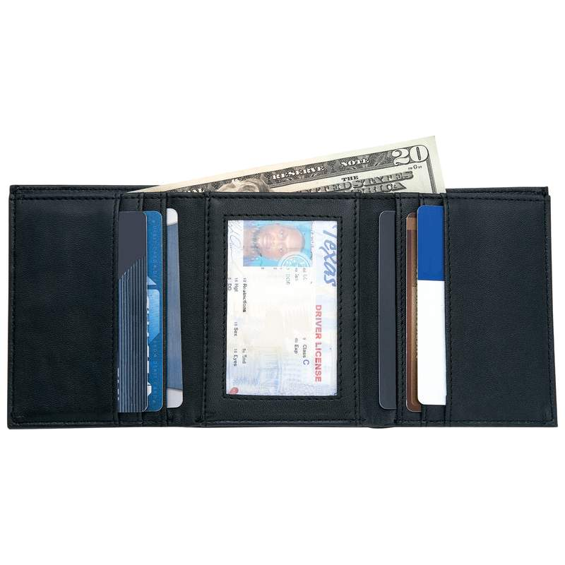 Embassy Men S Leather Tri Fold Wallet With Credit Card