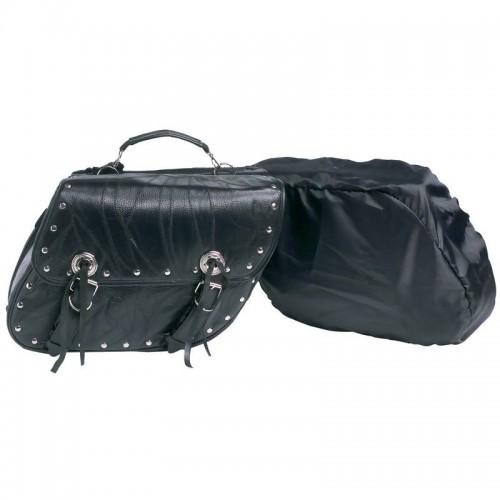 2pc Rock Design Buffalo Leather Wholesale Motorcycle Saddlebag Set