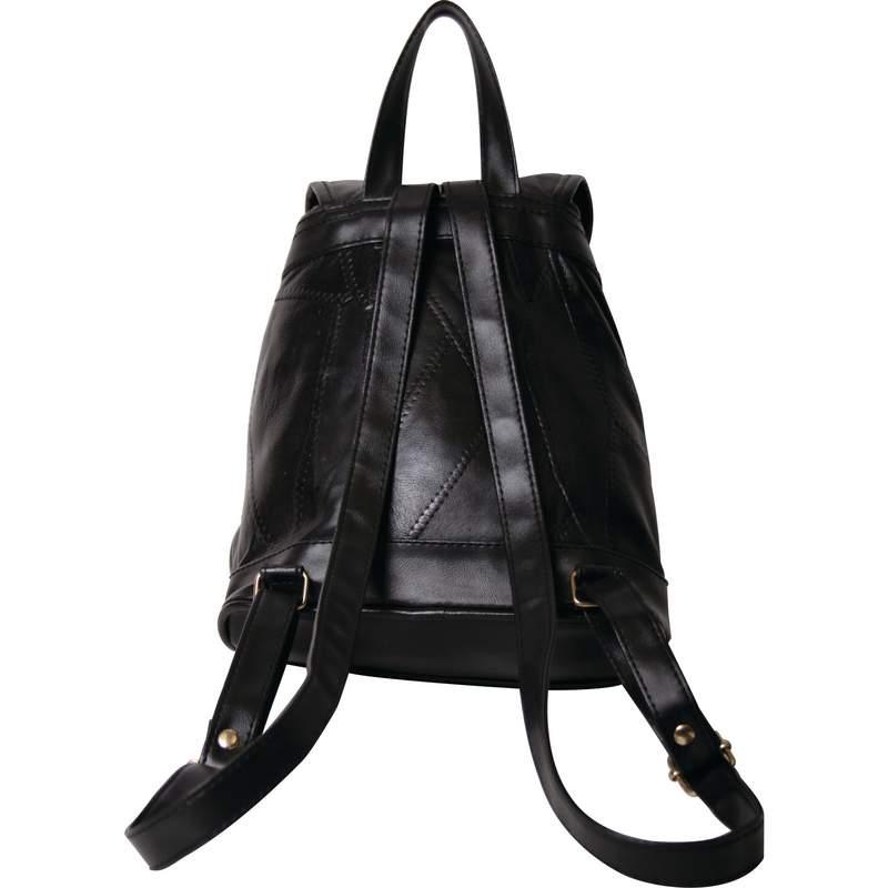 Maxam Italian Mosaic Design Black Lambskin Leather ...