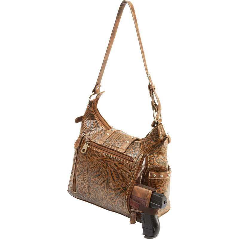 Western-Style Concealed Carry Purse with Gun Pocket and Holster LUPWCHL3