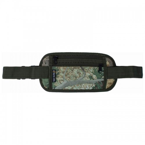 "Tree Camouflage Security-Style Waist Bag with 43"" Adjustable Strap"