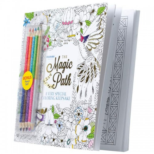 Magic Path Coloring Book and Colored Pencil Set