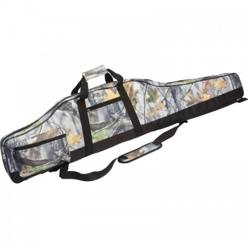 Camouflage Rifle Case with Zippered Closure and Padded Interior