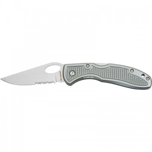 Mossberg Lockback Knife with Aluminum Handle and Belt Clip