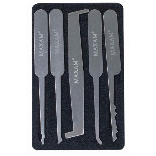 Maxam 5pc Lock Pick Set with Polypropylene Storage Case
