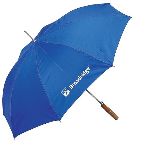"48"" Royal Blue Polyester Auto-Open Umbrella with Screen Print"