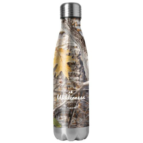 25.4 oz Double Wall Stainless Steel Camouflage Vacuum Bottle with Screen Print