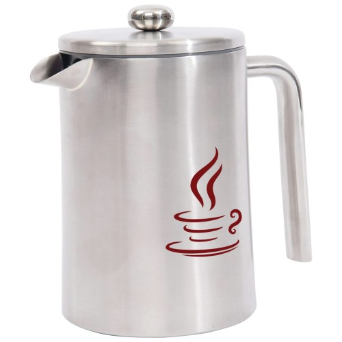 1.2L Double Wall Stainless Steel French Press with Color Print