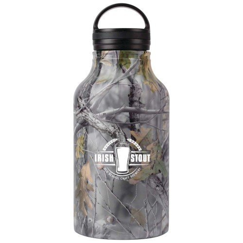 64 oz Growler with Camouflage Exterior and Custom Screen Print