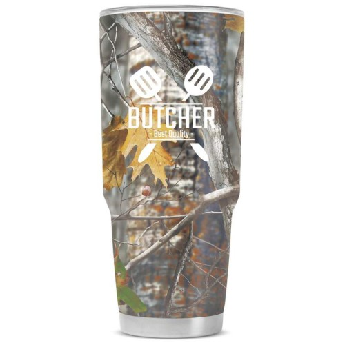 44 oz Camouflage Stainless Steel Double Vacuum Tumbler With Screen Print