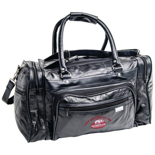 """Embassy Genuine Leather 17"""" Tote Bag with Embroidery"""