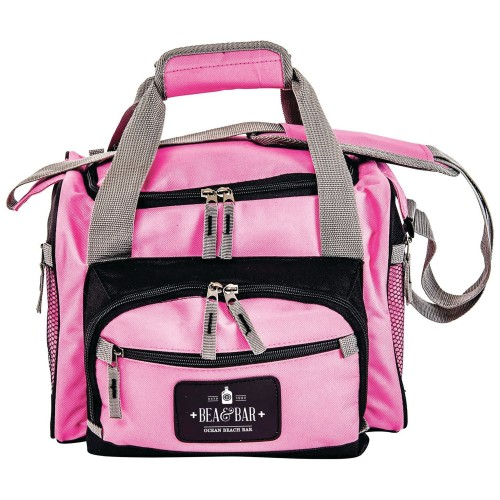 Pink Polyester Cooler Bag with Custom Color Print
