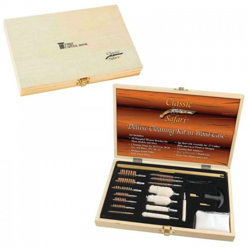 Classic Safari Deluxe Gun Cleaning Kit with Screen Printed Case
