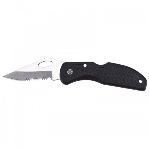 Stainless Steel Serrated Blade Lockback Knife Bulk Packed