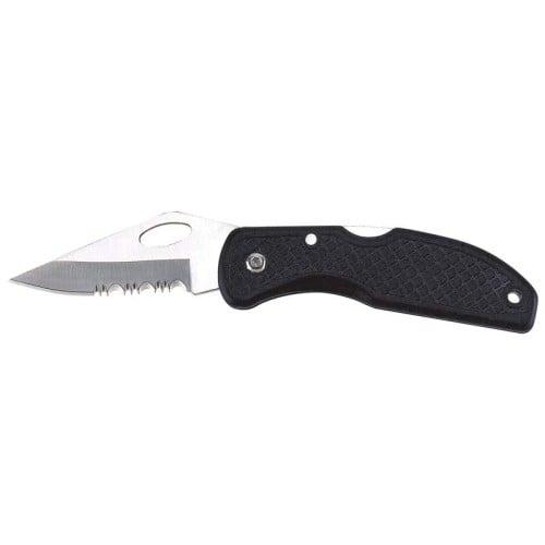 Rostfrei Stainless Steel Serrated Blade Leymar Handle Lockback Knife