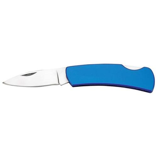 Maxam Lockback Knife with Blue Finish Stainless Steel Handle