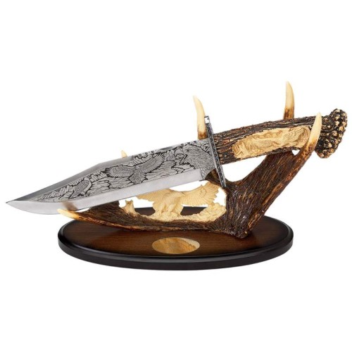 """Maxam 15"""" Decorative Knife with Stainless Steel Fixed Blade"""