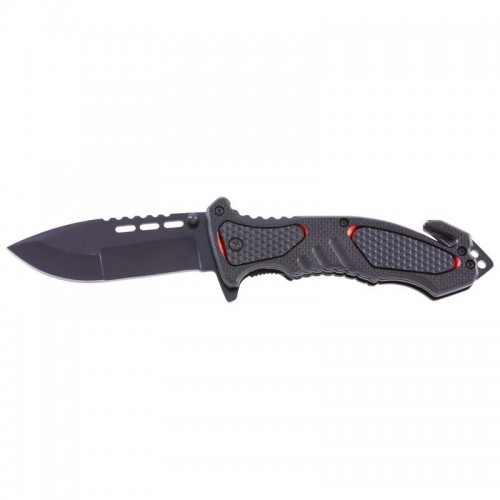 Maxam Folding Knife Features Aluminum Handle with Rubber Inlay