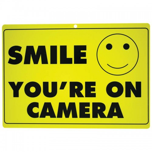 Maxam 10pc SMILE YOU'RE ON CAMERA Polypropylene Sign Set