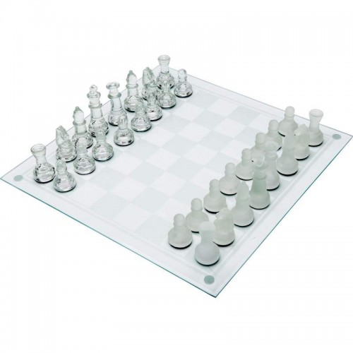 Maxam 33pc Glass Game Board Chess Set
