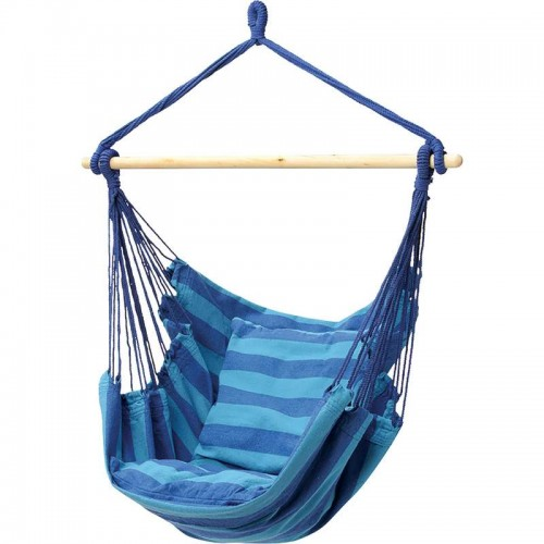 Club Fun Hanging Rope Chair with Cushions Holds up to 265 lbs