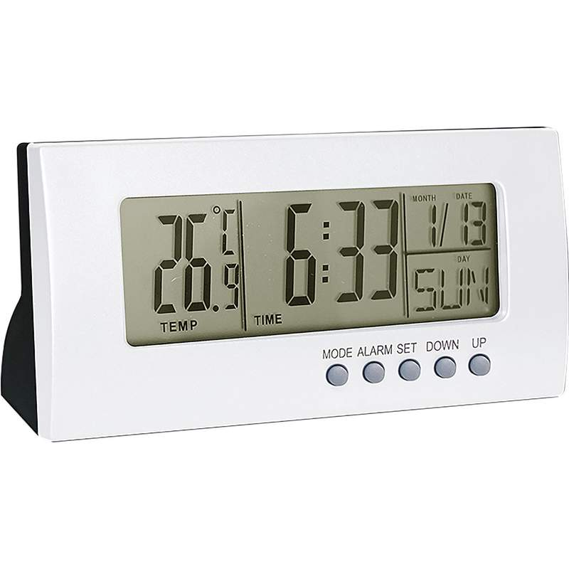 Mitaki Japan Digital Clock/Calendar with Alarm and Temperature