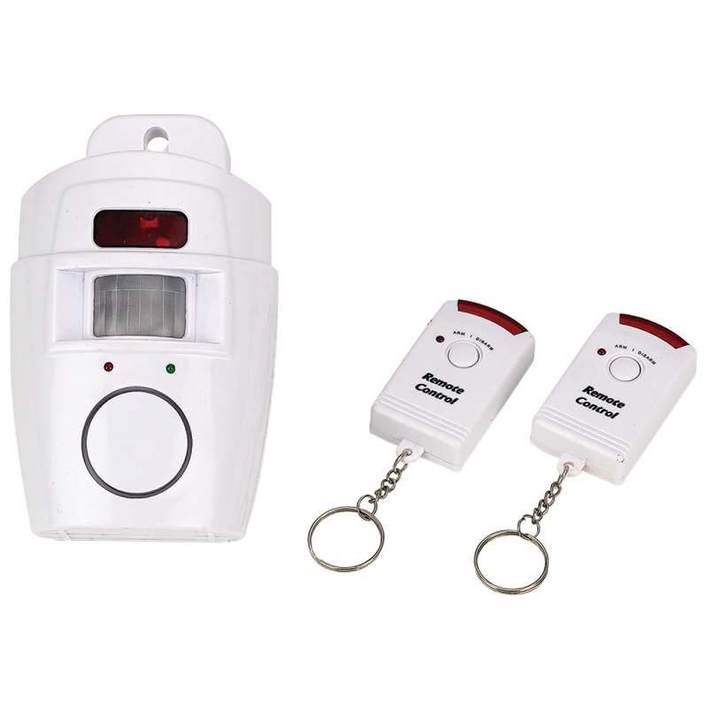 Mitaki Japan Motion Sensor Alarm Set with 2 Keychain Remotes