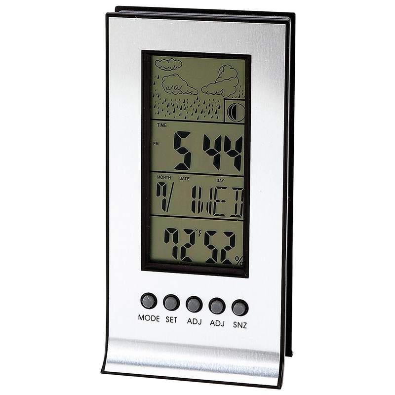 Mitaki Japan Indoor and Outdoor Weather Station with Alarm and Snooze