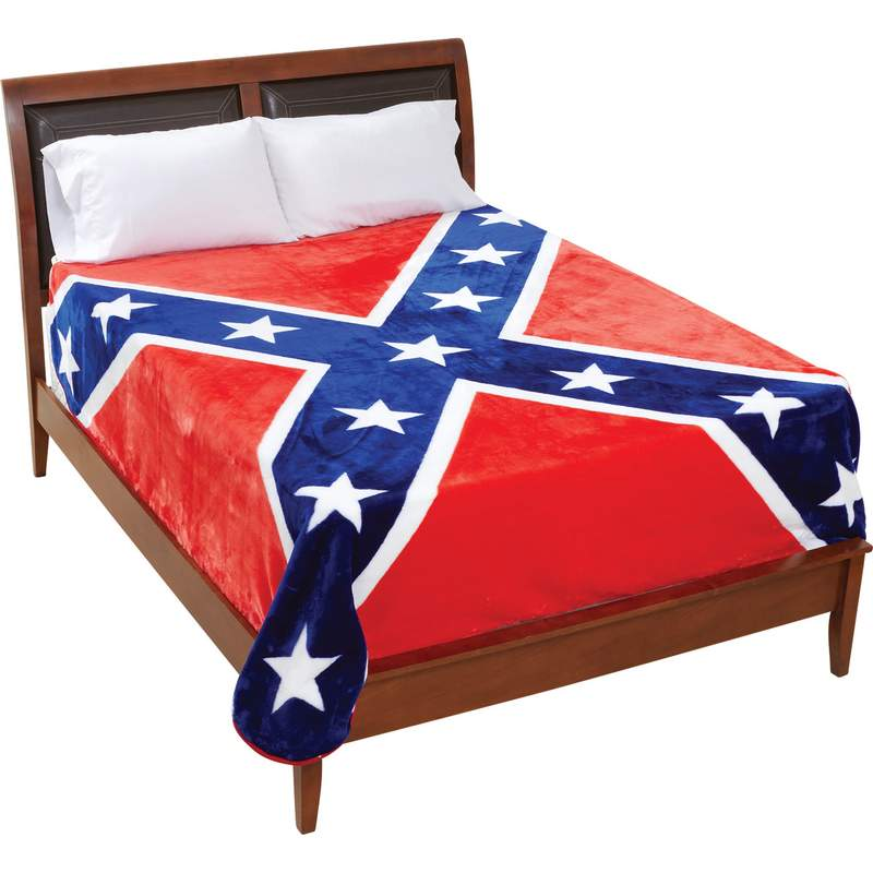 Be A Rebel Flag Polyester Blanket Fits Queen or King Bed ...