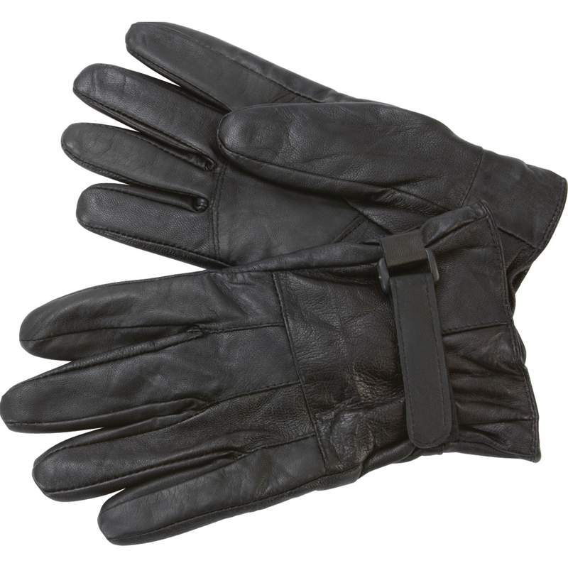 Lambskin Leather Driving Gloves with Fleece Lining Size X Large
