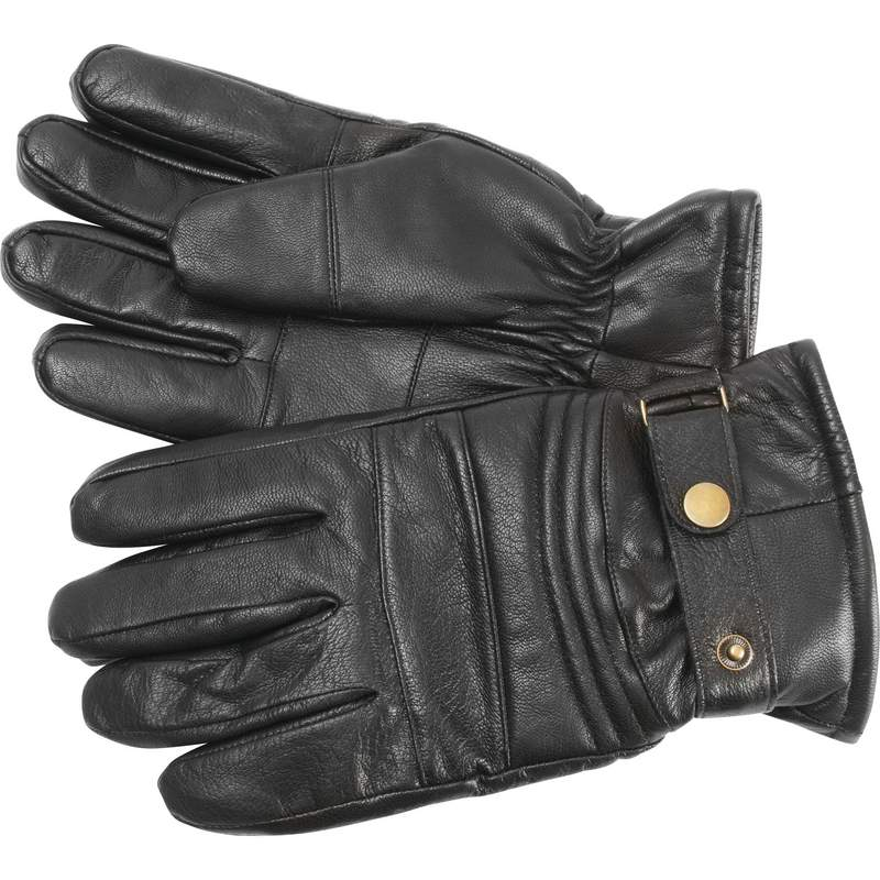 Solid Goat Leather Insulated Motorcycle Gloves Size Medium