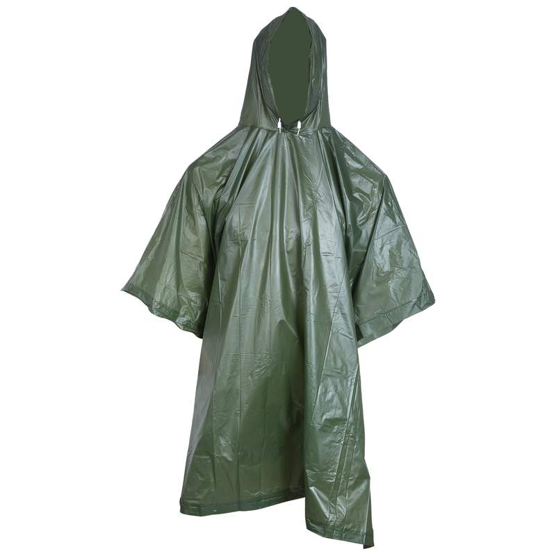 All Weather Waterproof Poncho With Hood And Side Entry Closure
