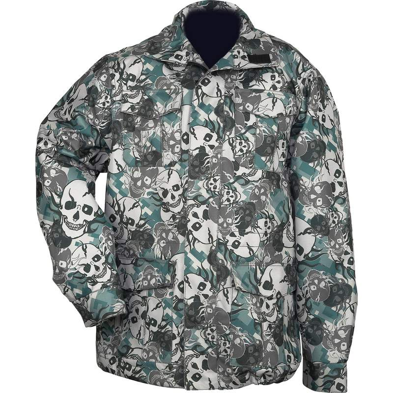 Water Resistant Skull Camouflage Jacket Size X Large