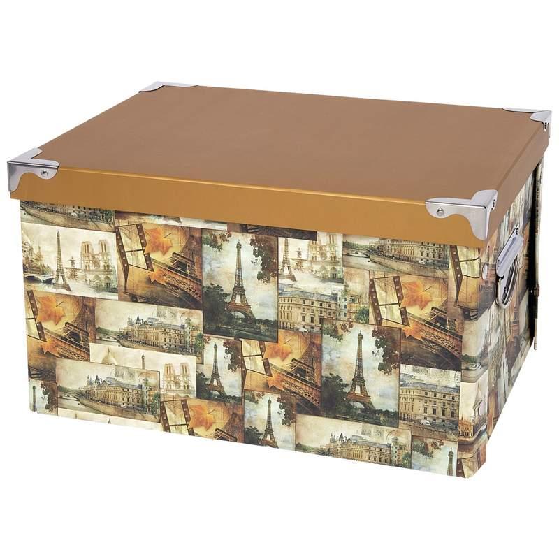Wyndham House Medium Decorative Storage Box with Metal End Handles