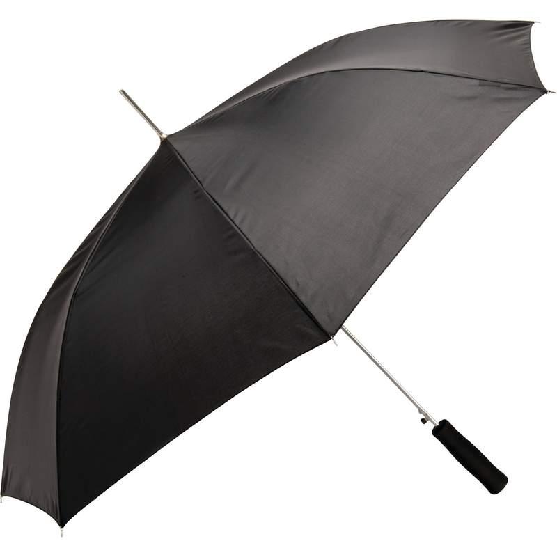 """All Weather 48"""" Black Auto Open Umbrella"""