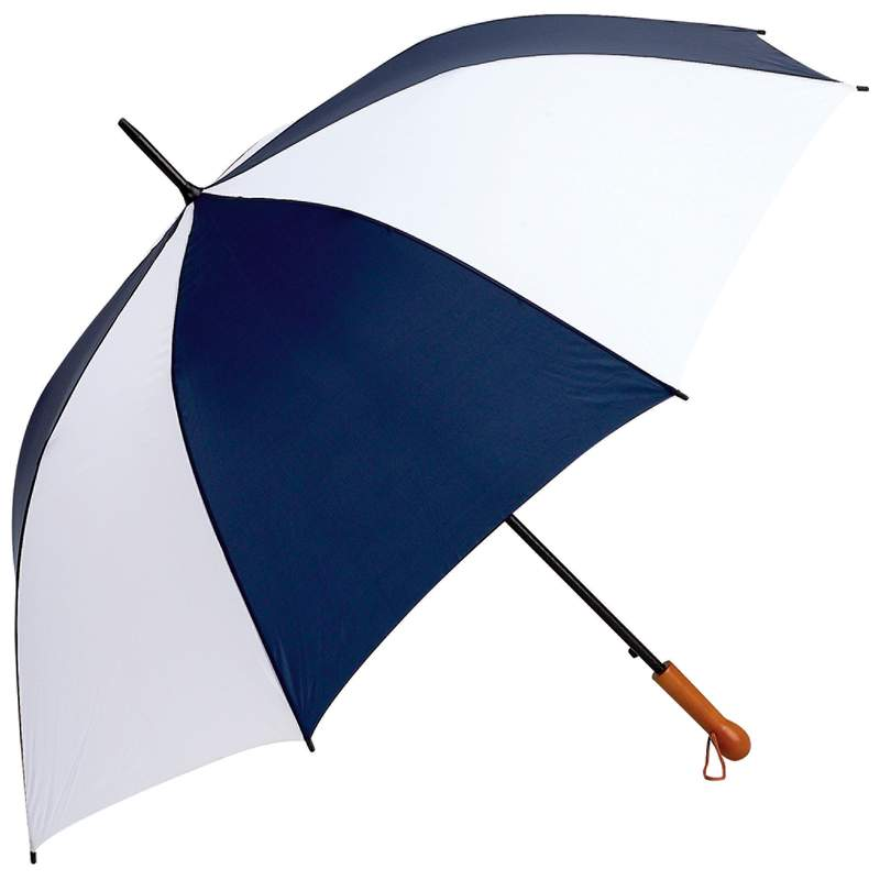 """All Weather Elite Series Navy/white 60"""" Auto Open Golf Umbrella"""