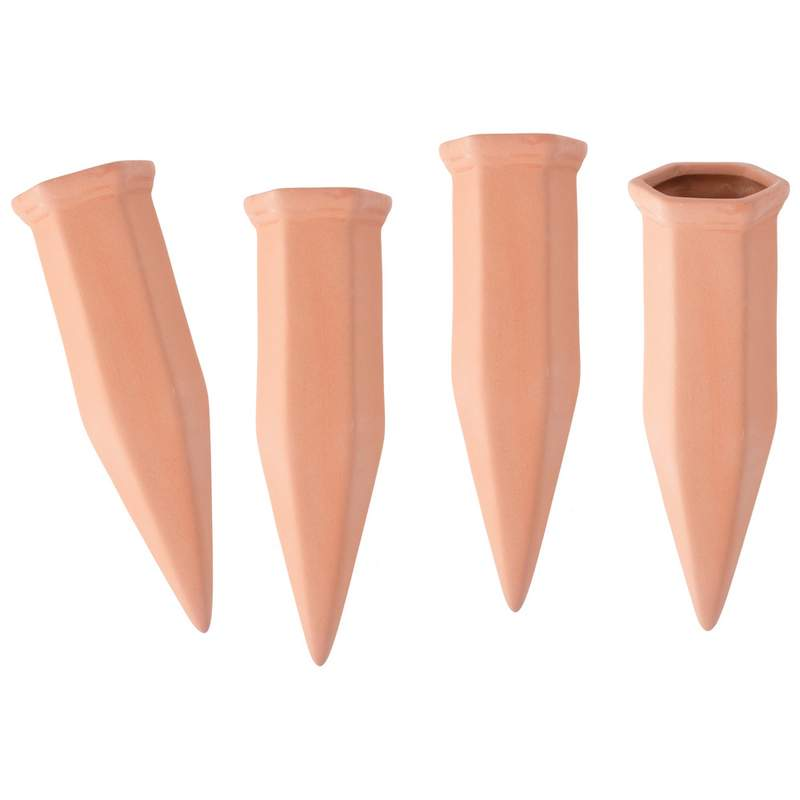 4 PC Terracotta Watering Spikes