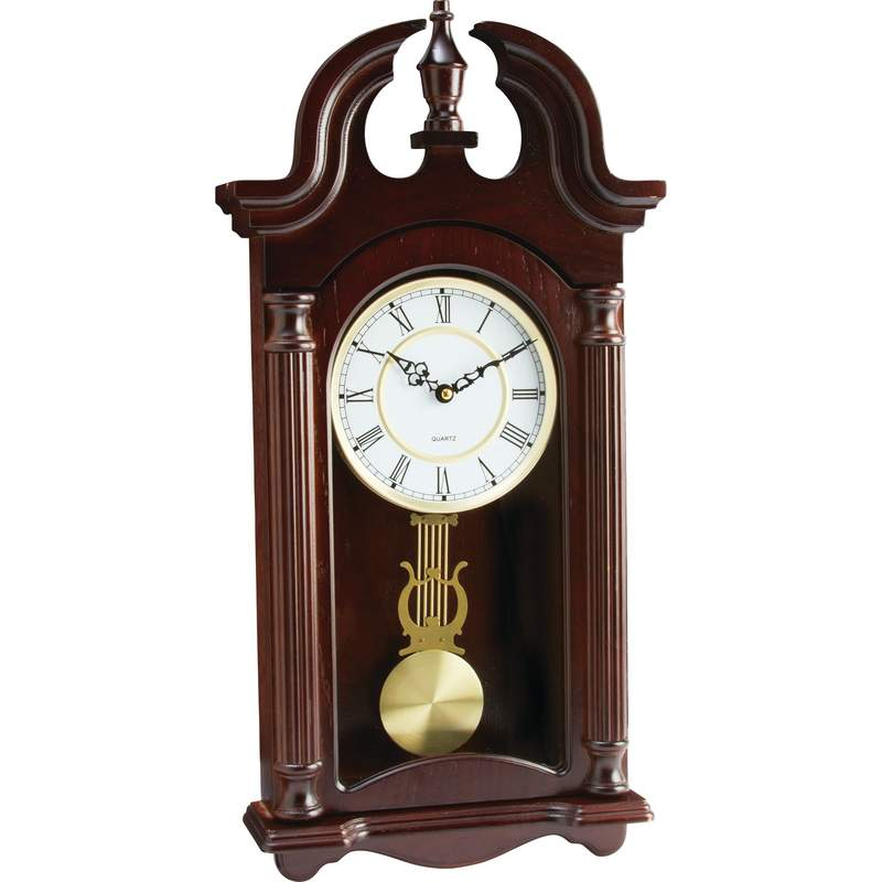 Kassel Quartz Pendulum Wood Frame Wall Clock Plays Melody