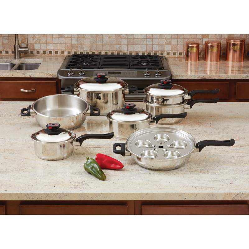 7 Ply Steam Control 17pc T304 Stainless Steel Cookware Set