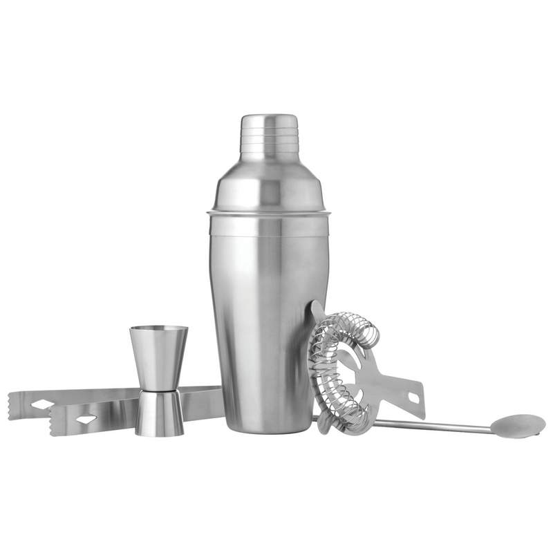 Wyndham House 5 PC Stainless Steel Bar Cocktail Shaker Set