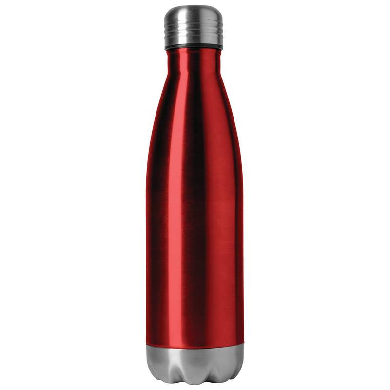 X PAC 16.9 oz Double Wall Stainless Steel Vacuum Bottle in Red