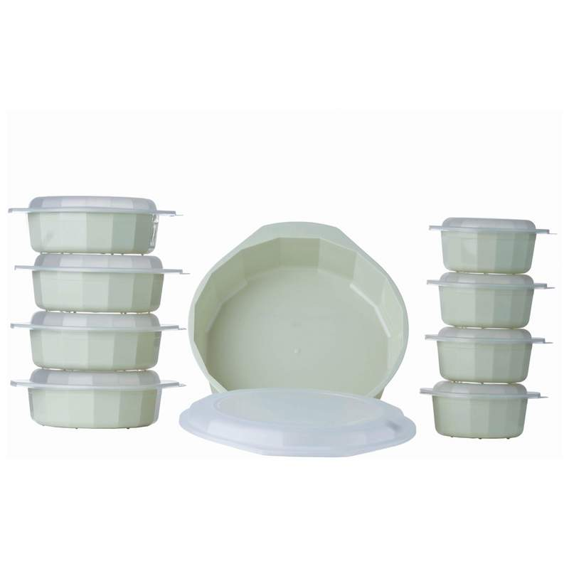Lacuisine 18pc Microwave Cookware Set Refrigerator And Dishwasher Safe