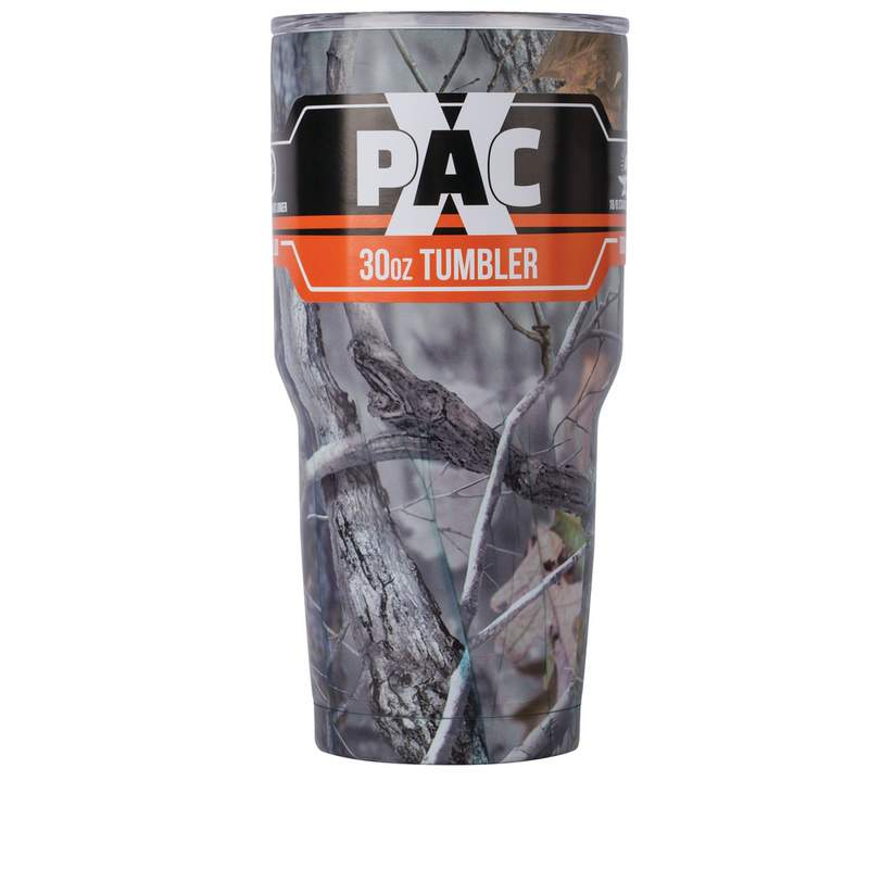 X PAK Camouflage 30 oz Double Vacuum Wall Tumbler with Lid