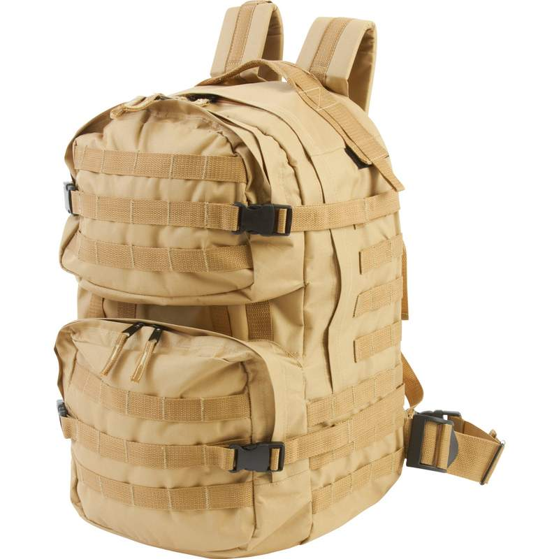 Extreme Pak Water Resistant Heavy Duty Desert Sand Army Backpack