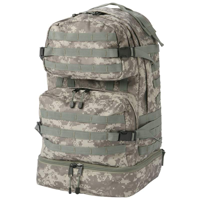 Extreme Pak Camouflage Water Resistant Backpack with Rope Pulls