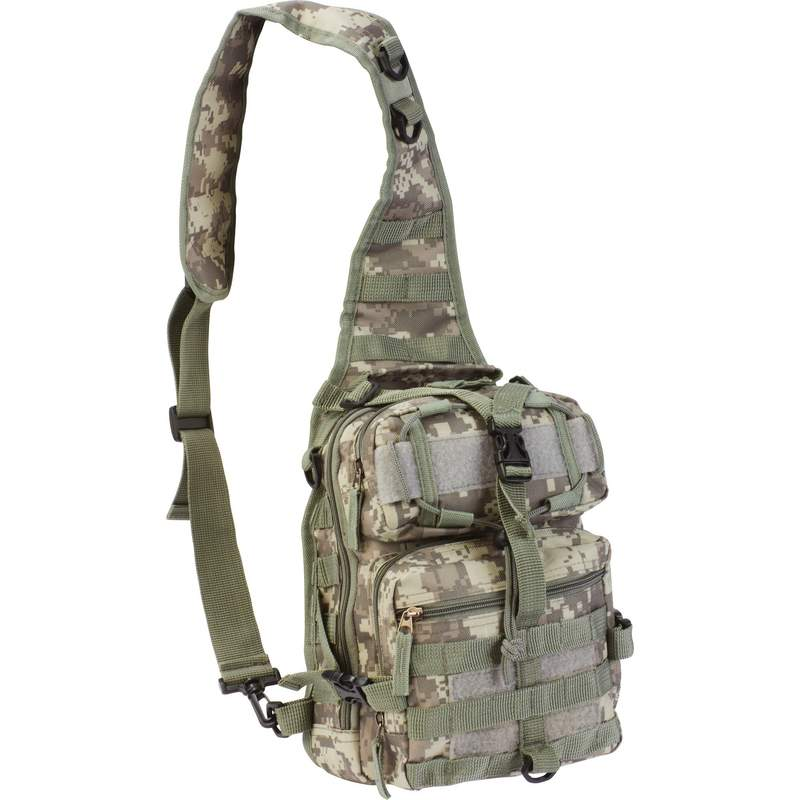 "Extreme Pak 11"" Digital Camouflage Heavyweight Fabric Sling Backpack"