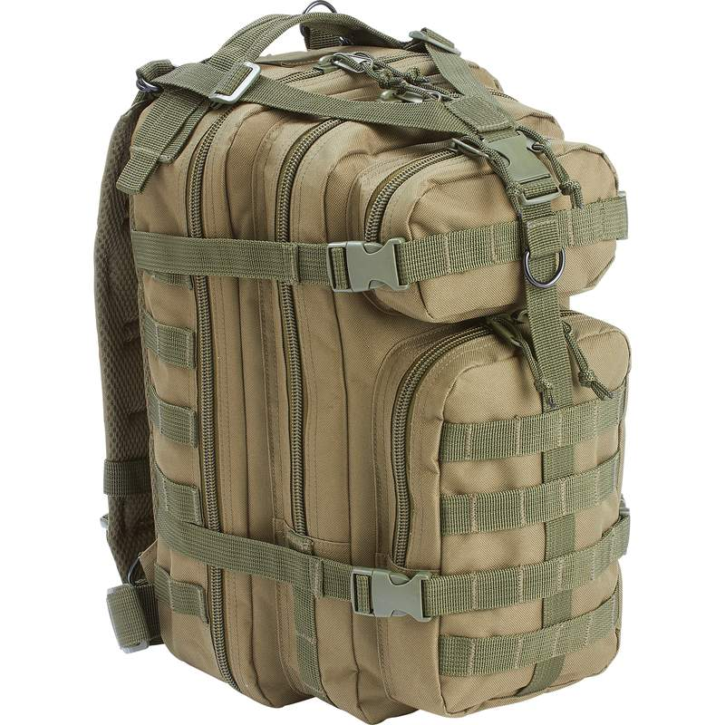 "Extreme Pak 17"" Green Tactical Backpack with Zippered Pockets"