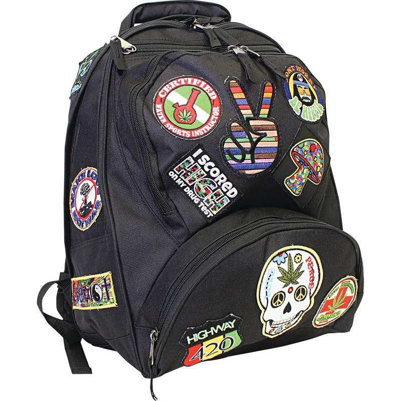 """Be A Rebel 17"""" Hippie Backpack with 15 Patches"""