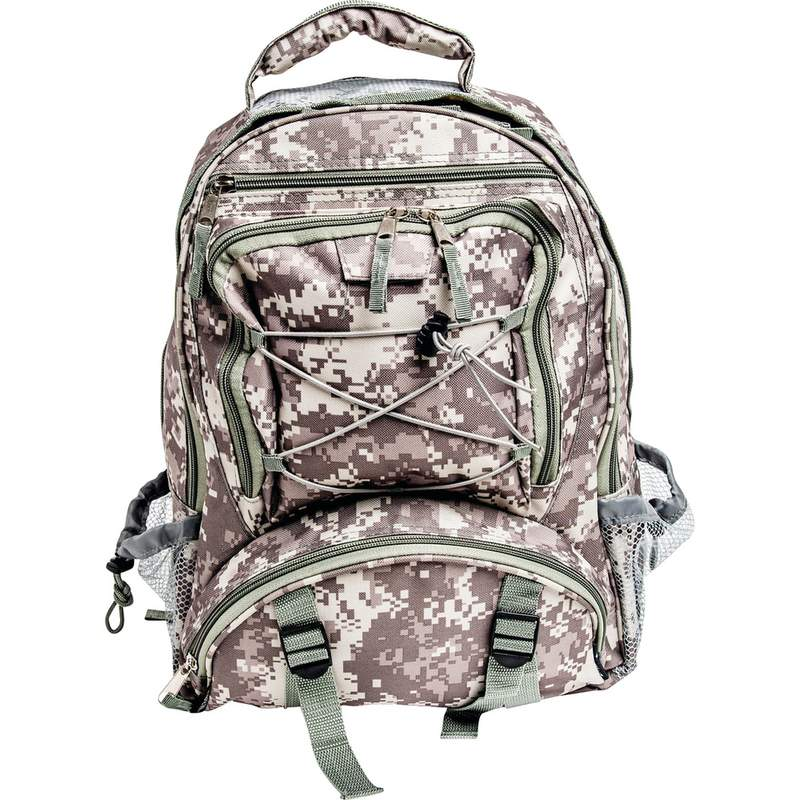 Extreme Pak Camouflage Water Resistant Backpack with Mesh Pocket
