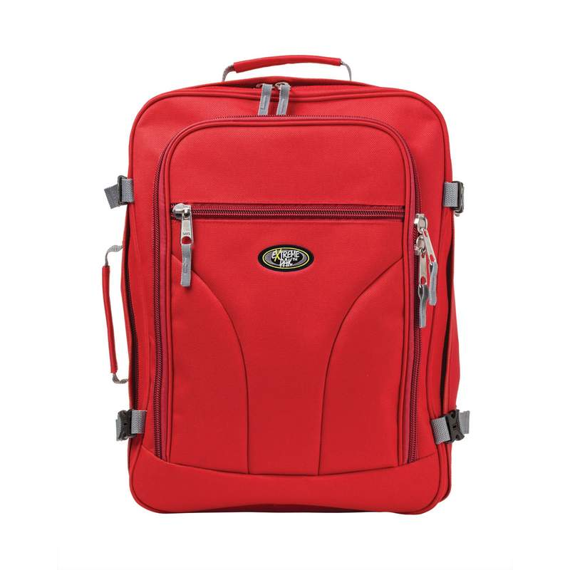 "18"" Red Polyester Carry On Bag/Backpack"